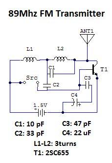 우린친구블로그 1 5v 단일 트랜지스터 Fm 송신기 만들기